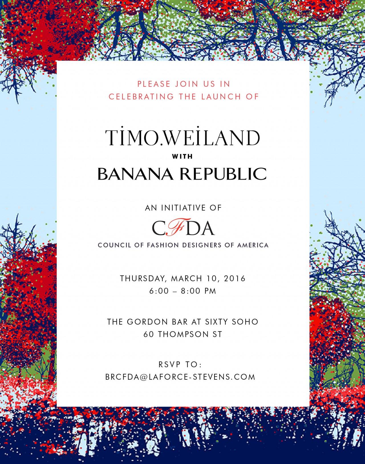 ALEXANDER ABRIAM — TIMO WEILAND X BANANA REPUBLIC INVITATION